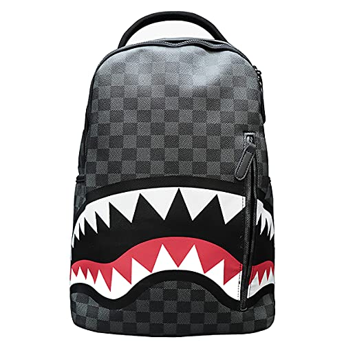 Bape Fashion PU Backpacks Lightweight Bookbag Multi-Functional Packsack Travel Daypack For Adult And Youth