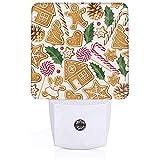 Lampe enfichable imprimée pour biscuits au pain d'épice avec veilleuse automatique