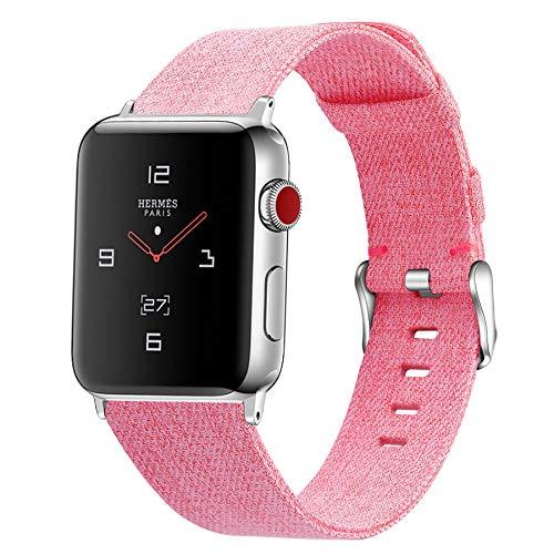 Correa de Lona para Apple Watch 42 mm 44 mm 38 mm 40 mm, Compatible con Apple Watch Series SE / 6/5/4/3/2/1,B,38mm/40mm