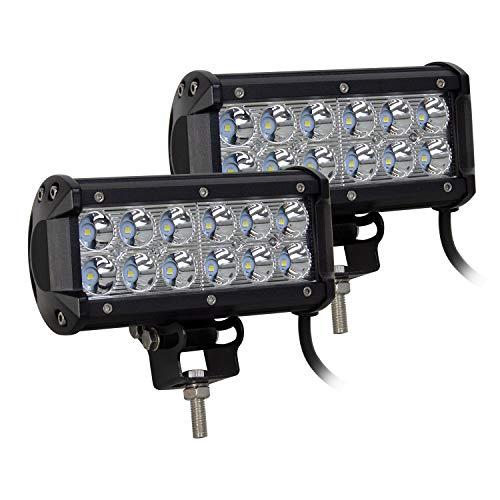 Auxtings LED Arbeitsscheinwerfer 7 Inch 36W Cree LED Zusatzscheinwerfer 3600LM Auto Scheinwerfer Offroad Flutlicht Spotlight 6000K Wasserdicht IP67 Arbeitslicht 12V (2 Stück)