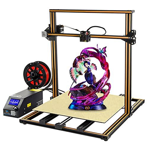 Creality cr10 s5 3D Printer Large Build Volume FDM with Filament Sensor, Dual Z Axis, Resume Printing, 500x500x500mm, Orange