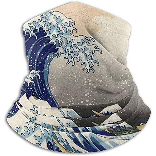 Linger In The Great Wave Off Kanagawa Neck Warmer Scarf Gaiter Face Mask Bandanas for Dust Cold Weather Winter Outdoors