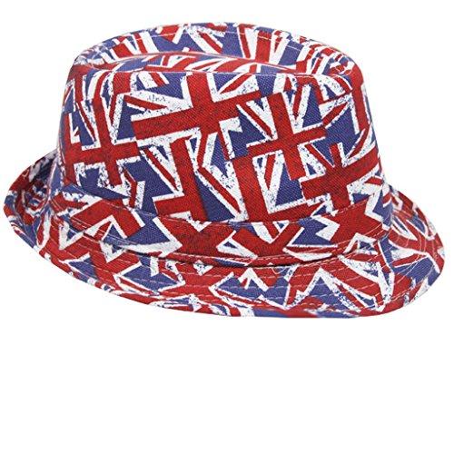USA UK CAMO Designer Trendy Trilby Fedora Al Capone Hat Mafia gangs de Chapeau (ONE SIZE 58) (UK)