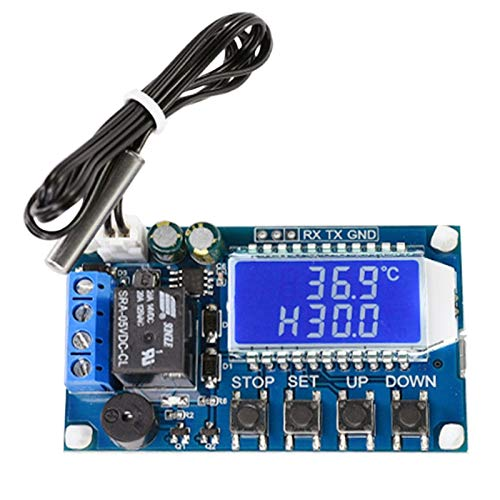 KU Syang MóDulo de Controlador de Temperatura, MóDulo de Relé de Interruptor de Termostato AutomáTico de 10 A, con Sonda de Sensor Impermeable