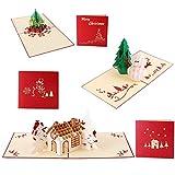 Navidad 3d tarjetas de felicitación,Joseche 3d Pop-up tóner,Tarjetas de Navidad el día de Navidad Tarjeta de felicitación de año nuevo de felicitación de Navidad,muñeco de nieve, árbol de Navidad