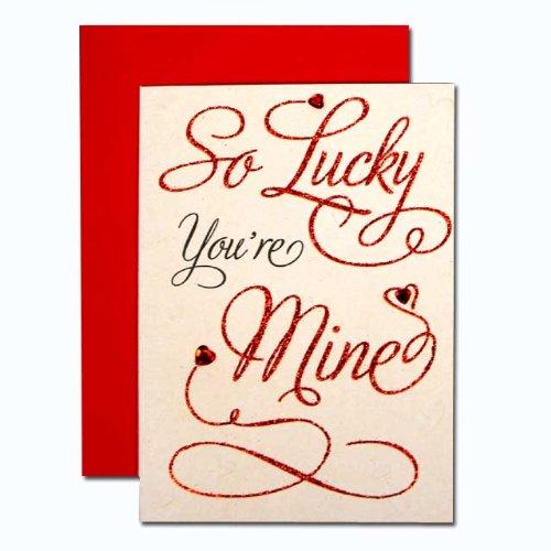 バレンタインカード 「カリグラフィー」 04 私はラッキー