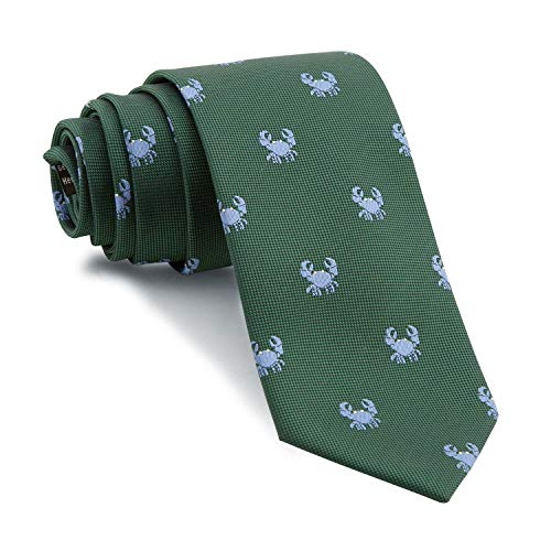 Cencibel Smart Casual Corbata Cangrejos (Fondo Verde Botella Cangrejos Celestes)