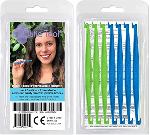Outie Tool | Clear Aligner Invisible Braces Removal Tool | Patented Design | 1 Pack Contains 7 Tools