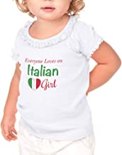 Everyone Loves an Italian Girl Toddler Cotton Ruffle Top Tee Sunflower