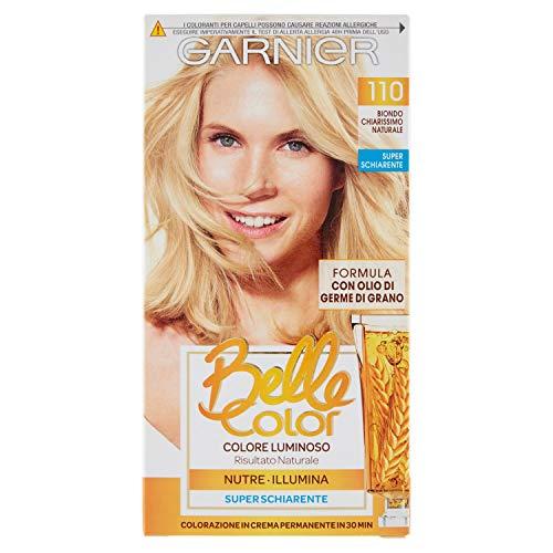 Garnier Belle Color Colorazione Permanente, Risultato Naturale e Luminoso, 110 Biondo Chiarissimo Naturale