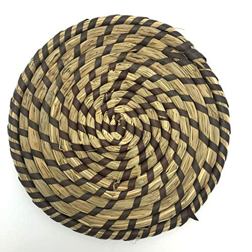 BoBoLing Natural Water Hyacinth Placemats Round Woven Straw Placemats Rattan Placemats Handmade Dining Table Mats Insulation Pad/Anti-Skidding Pad Best QualityShop Black
