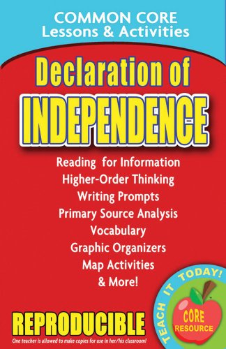 Declaration Of Independence Common Core Lessons And Activities
