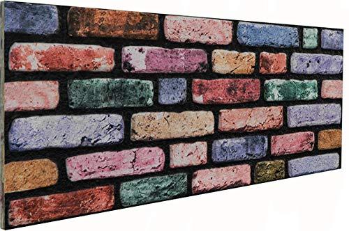3D Wandverkleidung Wandpaneel aus Styropor in Steinoptik für Wohnzimmer, Küche, Terrasse oder Schlafzimmer - Ziegeleffekt - 100 cm x 50 cm x 2 cm, Typ 117