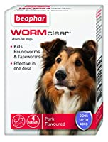 Kills both roundworms and tapeworms Use from 2 weeks of age and weighing more than 3kg Meaty flavoured Effective in One Dose For dogs up to 40kg