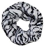 Ted & Jack - Faux Fur Animal Print Infinity Scarf In Zebra Print