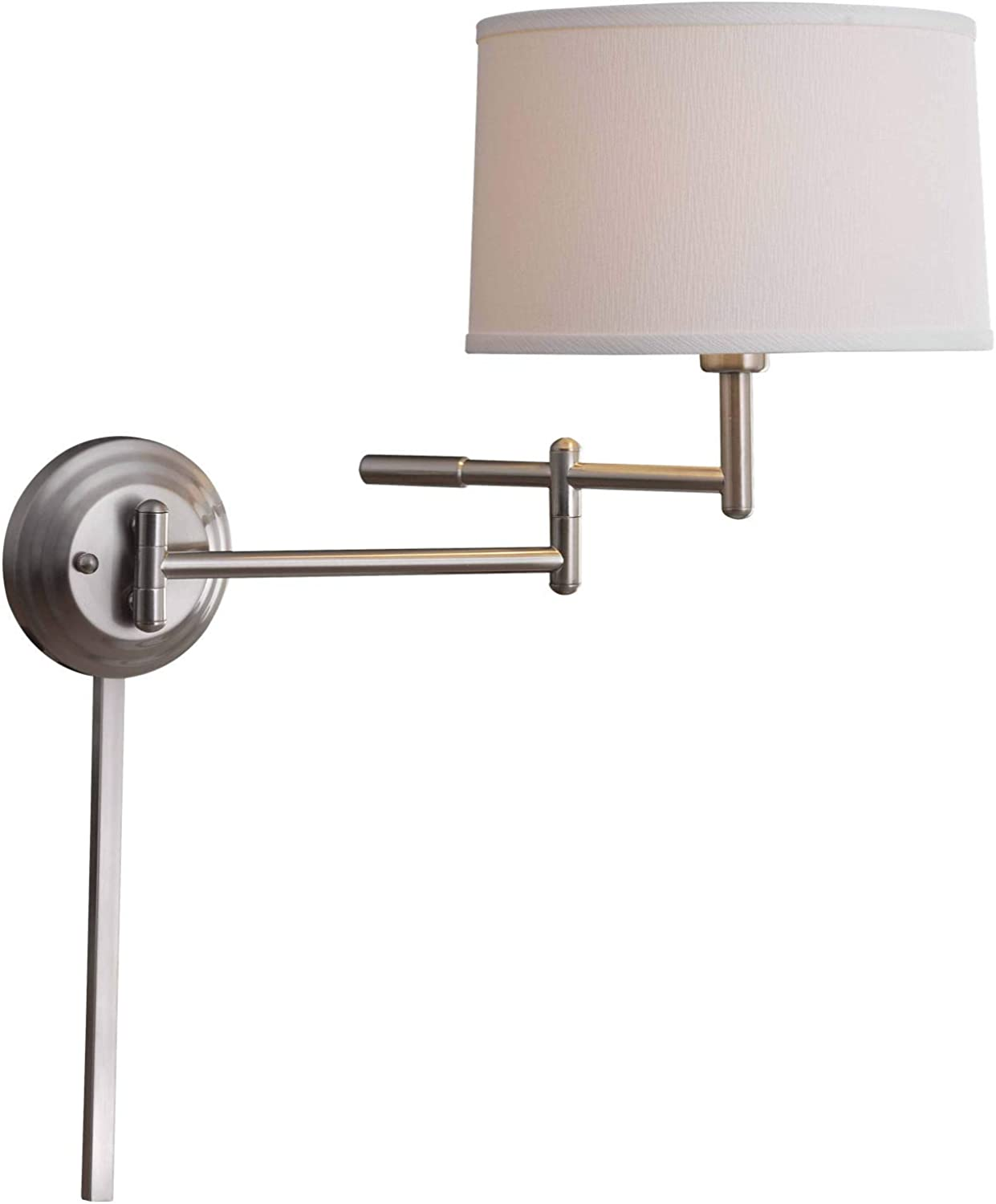 Kenroy Home 20942BS Theta Wall Swing Arm Lamp, 15  H x 18.5  W x 22  Ext, Brushed Steel Finish