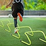 Froadp 6pcs Vallas de Obstáculos para Fútbol, Set de Vallas Deportivas de Altura Ajustable, Set de Entrenamiento de Coordinación de Fútbol para Saltar, Driblar y Agilidad