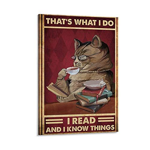 YUGOU Retro Poster I Read and I Know Things Poster dekorative Malerei Leinwand Wandkunst Wohnzimmer Poster Schlafzimmer Malerei 12x18inch(30x45cm)