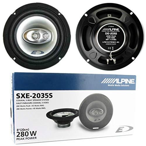 2 Altavoces coaxiales de 3 vías Compatible con Alpine SXE-2035S 20.00 cm...
