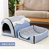 DXJJ Cat Nest Four Seasons Universal Removible y Lavable Cerrado Cat House Cat Bed Cat Villa Cat...