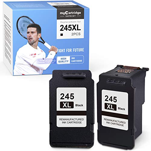 myCartridge SUPRINT Remanufactured Ink Cartridge Replacement for Canon PG-245XL 245XL 245 PG-243 to with Pixma MX492 MX490 MG2420 MG2520 MG2522 MG2920 MG2922 MG3022 IP2820 (2 Black)