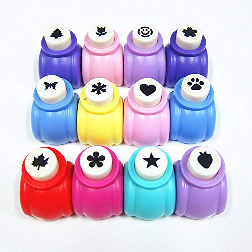 zorpia Punch Craft Set, 12 Pcs Hole Punch Shapes Hole Punch Shape Scrapbooking Supplies Shapes Hole Punch Great for Crafting & Fun Projects