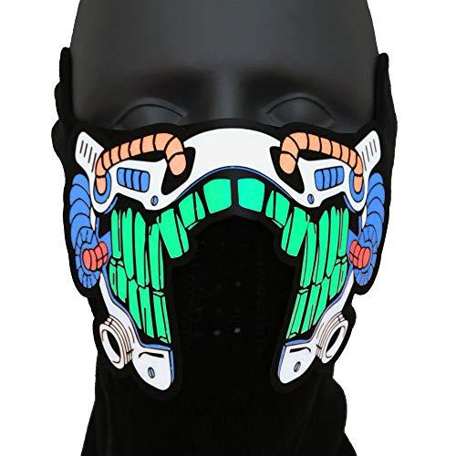 Ucult Leuchtende Fantasy Science Fiction LED-Maske für Gesicht & Nase Verkleidung Kostüm Mottoparty