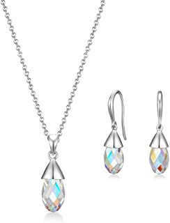 MESTIGE Women Crystal Aurora Boreale Set with Swarovski Crystals