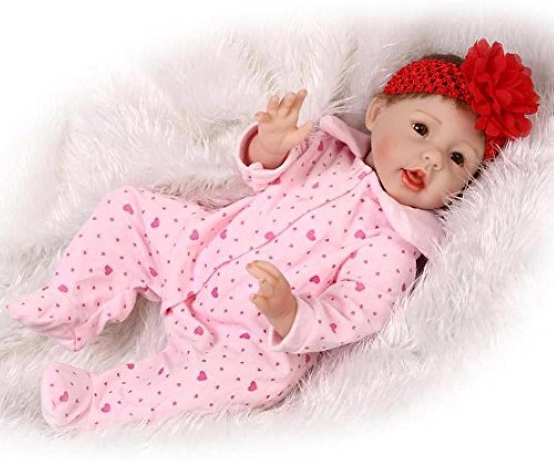SHTWAD Simulation Reborn Baby Weiches Silikon SchNe Puppe Kreative PersNlichkeit Geschenk Spielzeug 55 cm