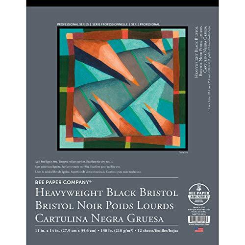 Bee Paper Black Bristol Pad