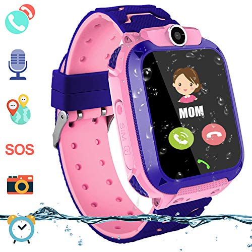 Kids Waterproof Smart Watch, Touch Screen Smartwatch for Boys Girls Students LBS Locator with 2 Way Call Voice Chat SOS Alarm Clock Camera Childrens Back to School Gift Compatible with iOS Android