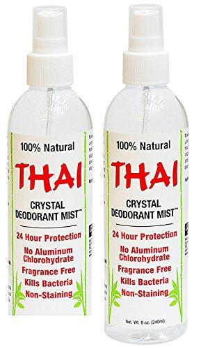 Thai Deodorant Stone Crystal Mist Natural Deodorant Spray 8 oz. Bundle, Pack of 8