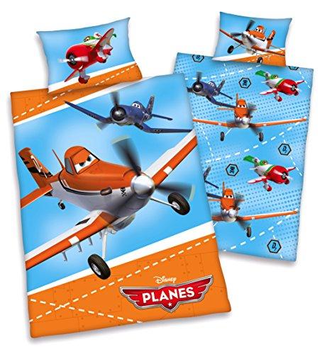 Disney pLANES-parure de lit pour enfant 40 x 60/100 x 135 cm - 100 % coton renforcé-produit neuf de la marque herding