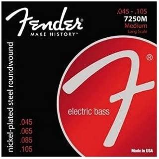 Nickel Plated Steel Roundwound Fender Super Bass 7250s 45-105 7250M