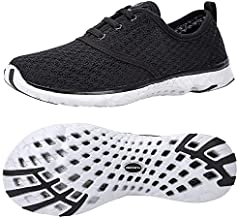ALEADER Men's Stylish Quick Drying Water Shoes Black 10.5 D(M) US