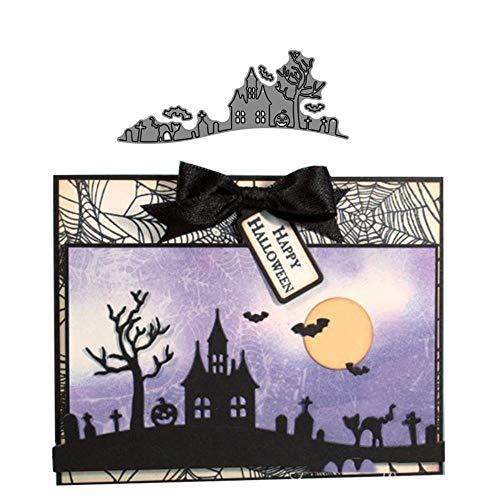 Halloween Hill Die 3D Gift naaien DIY Scrapbooking Postzegels Craft Embossing Die snijden maken sjabloon
