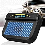 TUZECH Solar Fan Automatic Car Cooler for Summers for Parked Cars -Solar Powered Car Auto Cooler Ventilation Fan Automobile Air Vent Exhaust Heat Fan with Rubber Strip -Black