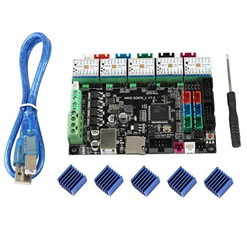 RETYLY Accesorios de Impresora 3D MKS SGen-L Motherboard TMC2208 X 5 Silent Driver Kit Marlin