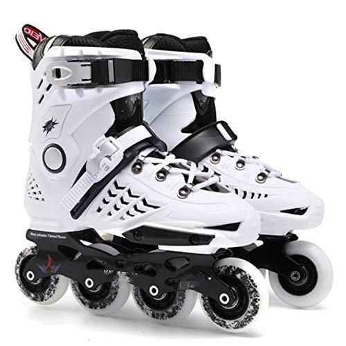 Mhwlai Inlineskates, Erwachsenen-Skates Einreihige Rollschuhe Jungen und Mädchen Club empfohlene Anfänger (35-44 weiß),Weiß,43