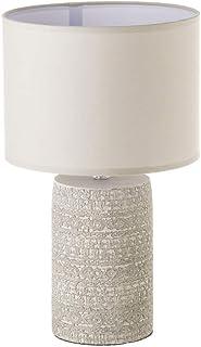 Lámpara de mesita de noche grabada shabby chic de cemento gris de Ø 24x41 cm - LOLAhome