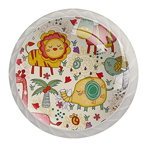 Tirador para Muebles Animales bonitos Manija del cajón cristal Perilla de cajón...
