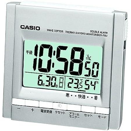CASIO (カシオ) 置時計 WAVE CEPTOR 電波時計 温度・湿度表示 DQD-700J-8JF
