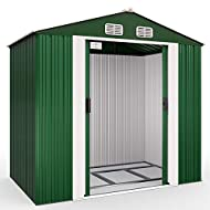 ✅ DEUBA Tool Shed – Spacious metal garden shed made from sturdy and durable metal and synthetic components. ✅ EASY ACCESS – Large Sliding Door enables an easy access into the garden shed. Vent open on top. ✅ MUCH STORAGE SPACE – Dimensions with Roof:...