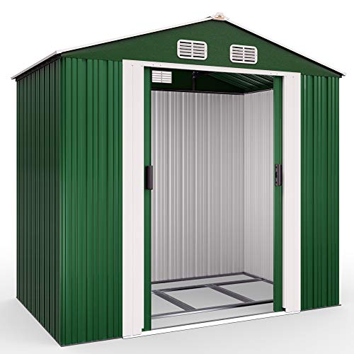 Deuba XL Metall Gerätehaus 2,4m² mit...