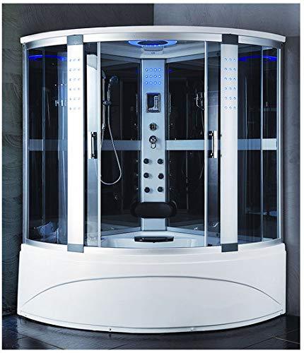 Bagno Italia Cabina con vasca Idromassaggio 150x150 semicircolare box doccia full optional I