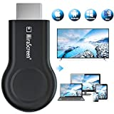 Wireless WiFi Display Adapter Dongle, MiraScreen E8 2.4G HDMI Display Adapter Receiver,1080P& Dual Band Wireless WiFi Adapter Mirroring Screen, for iOS Android Windows to TV Projector Monitor (Black)