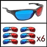 3d gafas, gafas 3d anaglíficas (deportiva para TV o PC de juegos (Rojo/Azul), televisor, 3d de vasos con tecnología...