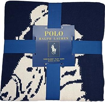 Polo Ralph Lauren Throw Blanket Pony Logo 100% Cotton