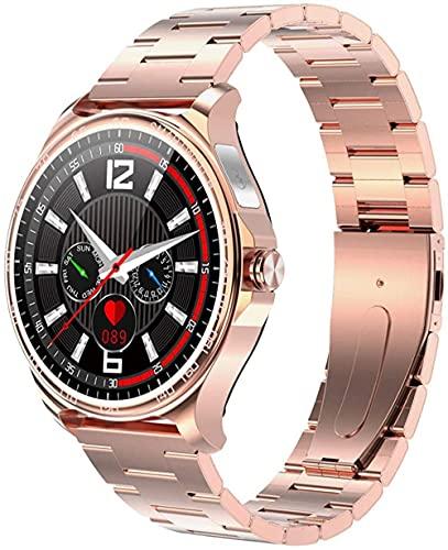 Full Touch Schermo a colori rotondo Salute Tracker Smart Watch Bluetooth Free Fitness Tracker Cardiofrequenzimetro-oro