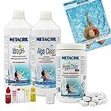 Metacril Starter Kit Hypo Chlor para Piscina e hidromasaje con Calcio hipoclorito 65% en Pastillas de 7 gr.-(Jacuzzi,Teuco,Intex,Bestway,Dimhora)